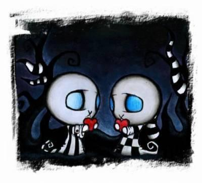 Download To Mobile Phone: Animated Cute Emo love S60v2